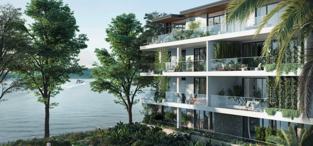Beautiful water views from Trinity Point Apartments