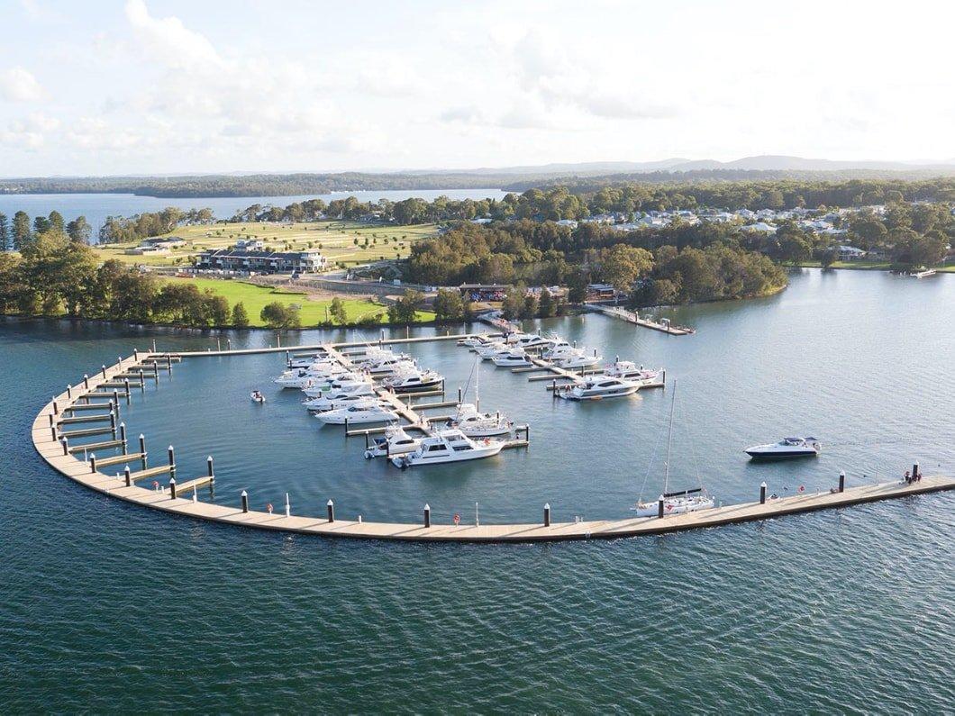 Trinity Point Marina - aerial view