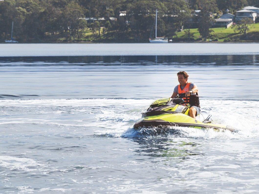 man riding jetski at Trinity Point